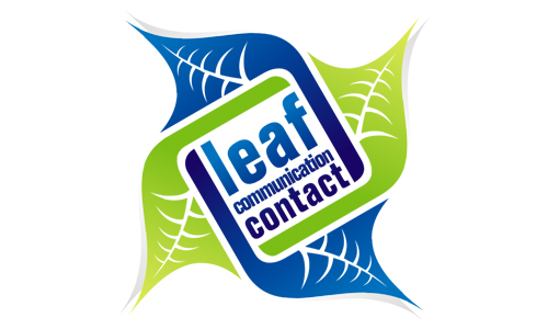 Leaf Communication Contact Logo Design