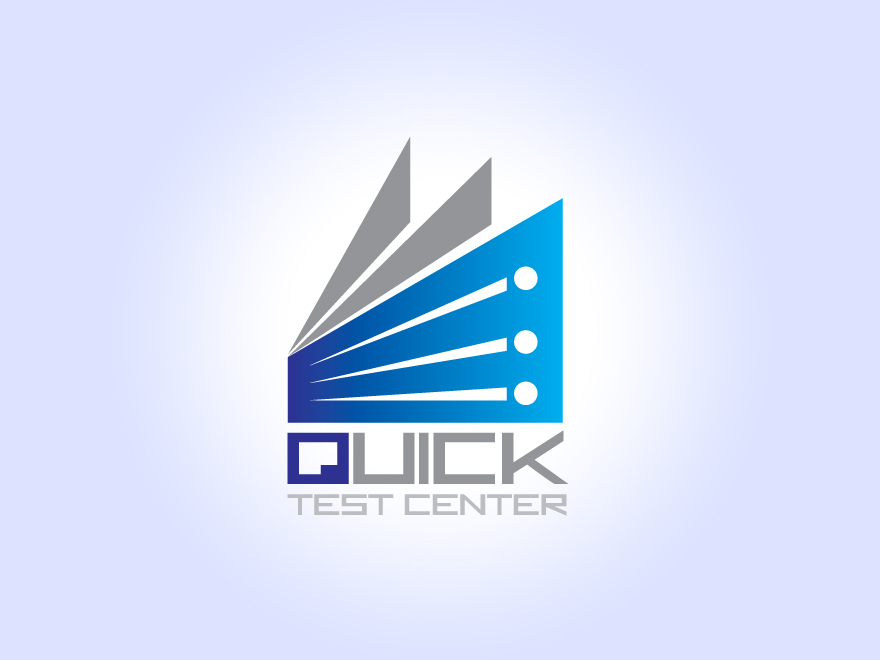 Quick Test Center Logo Design