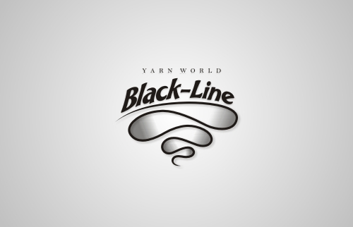 Black-Line Yarn World Logo Design