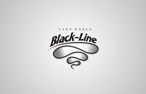 Black-Line Yarn World Logo Design