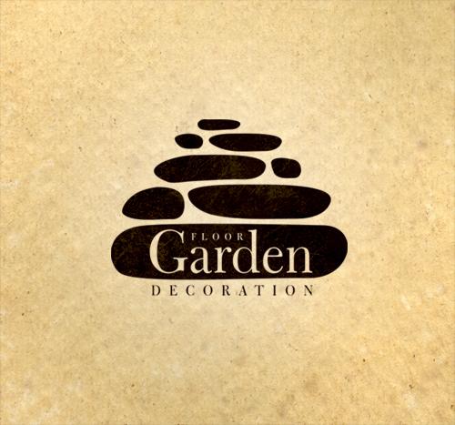 Floor Garden Decoration Logo Design