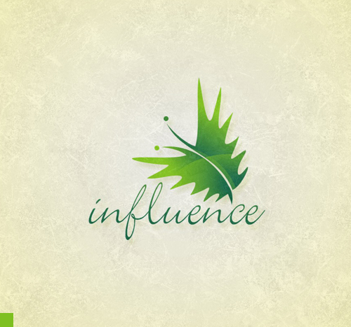 Influence Cafe & Restaurant Logo Design