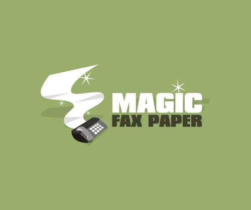 Magic Fax Paper Logo Design