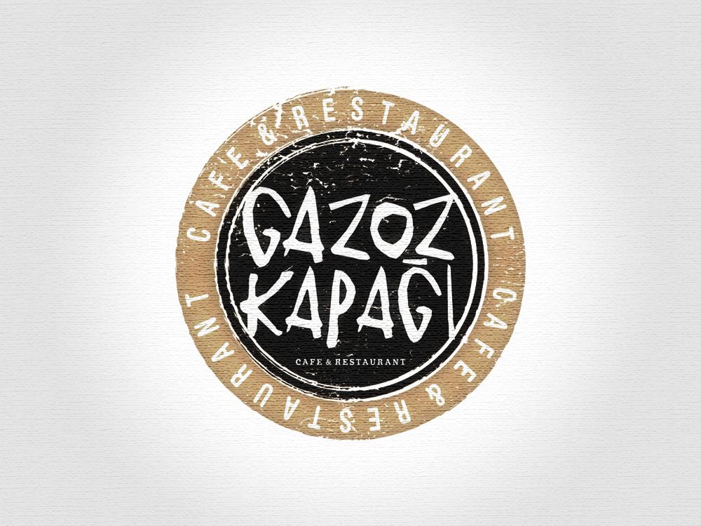 Gazoz Kapağı Cafe & Restaurant Logo Tasarım